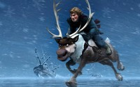 Kristoff and Sven - Frozen wallpaper 1920x1200 jpg