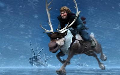 Kristoff and Sven - Frozen wallpaper