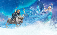 Kristoff, Sven and Elsa - Frozen wallpaper 2880x1800 jpg
