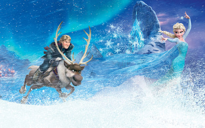 Kristoff, Sven and Elsa - Frozen wallpaper