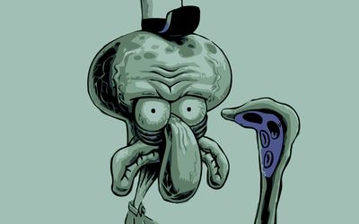 Lifeless Squidward Tentacles wallpaper