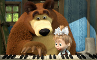 Masha and the Bear [10] wallpaper 1920x1080 jpg