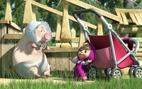Masha and the Bear [14] wallpaper 1920x1080 jpg