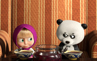 Masha and the Bear [8] wallpaper 1920x1080 jpg