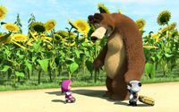 Masha and the Bear [9] wallpaper 1920x1080 jpg