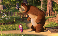 Masha and the Bear wallpaper 1920x1080 jpg