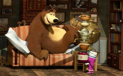 Masha and the Bear [13] wallpaper