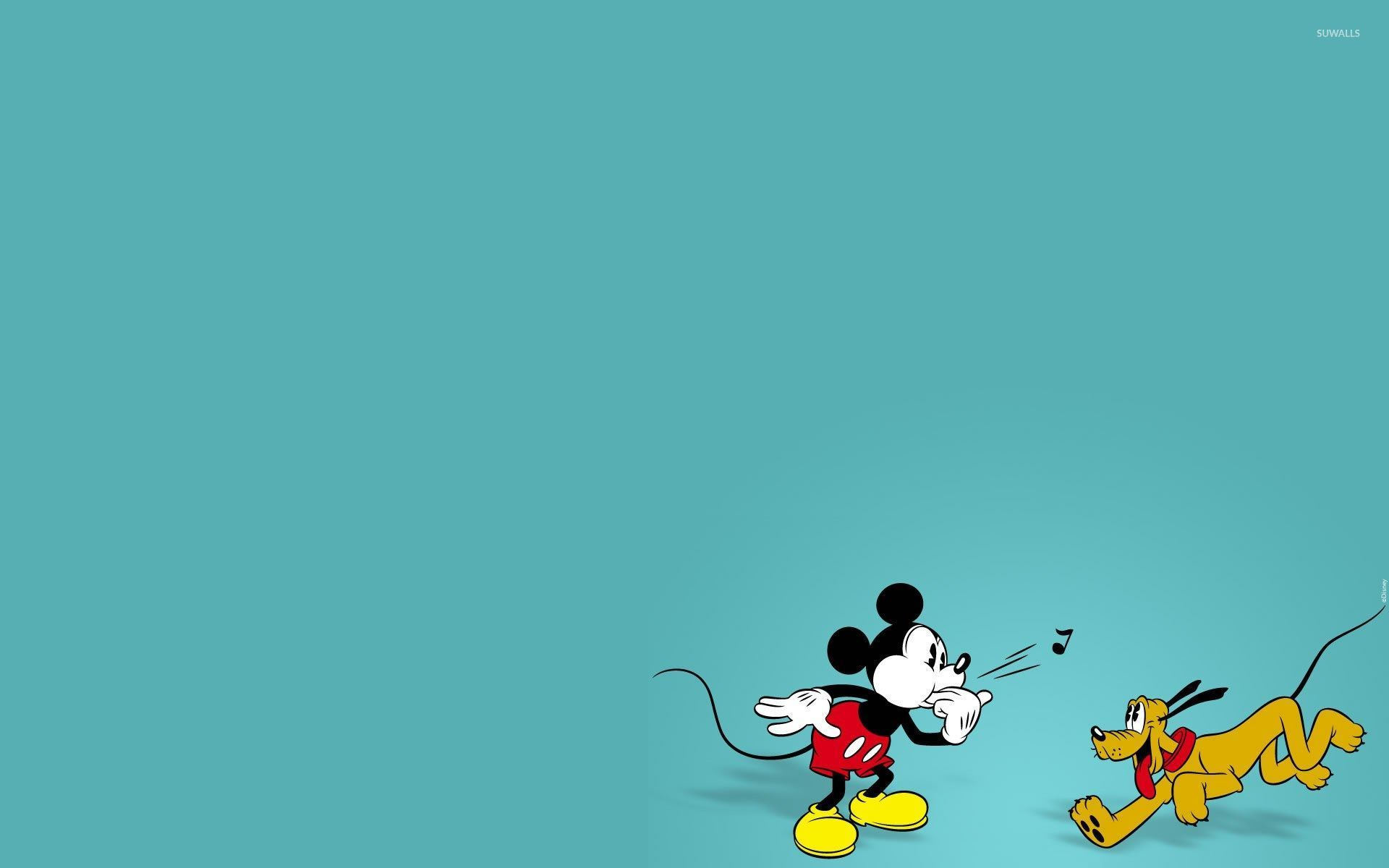 Mickey Playing With Pluto Wallpaper 1920x1200 Jpg