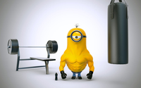 Minion with muscles wallpaper 2560x1600 jpg