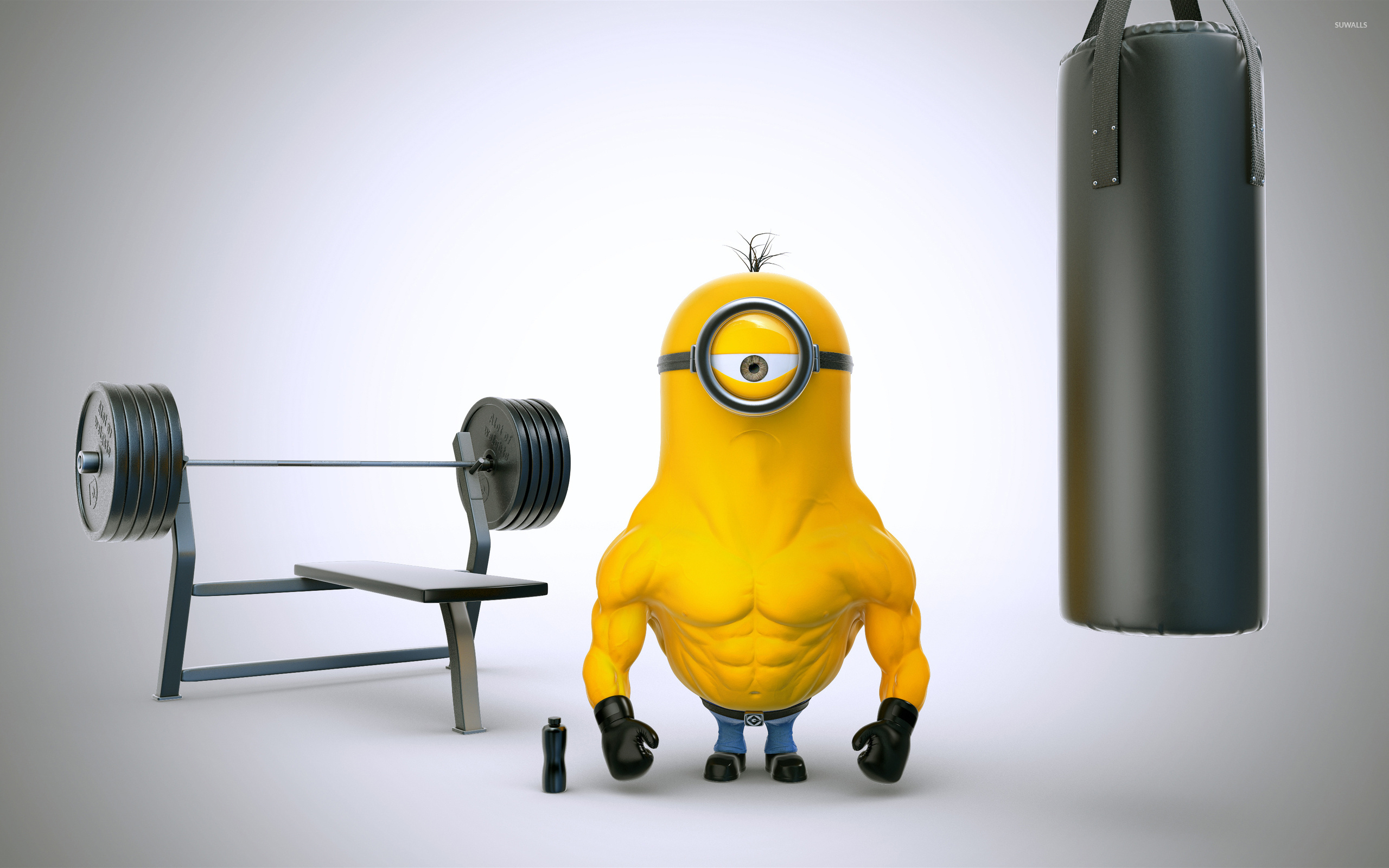 Minion With Muscles Wallpaper