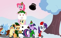 MLP Christmas wallpaper 1920x1080 jpg