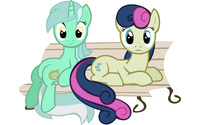 Lyra and Bon Bon - My Little Pony Friendship is Magic wallpaper 2560x1600 jpg