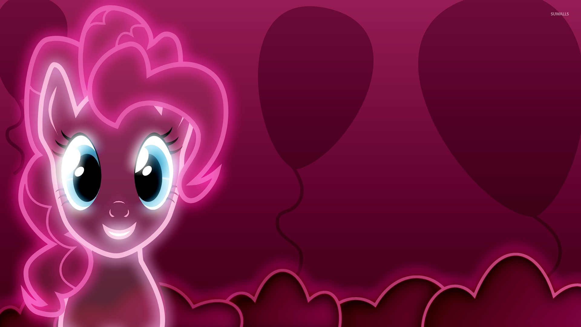 Neon Pink Pinkie Pie My Little Pony Wallpaper Cartoon