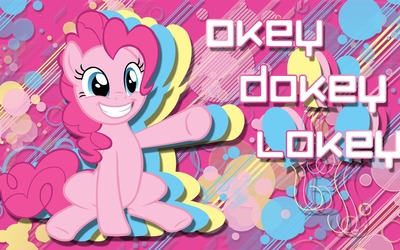 Okey dokey lokey - Pinkie Pie, My Little Pony wallpaper