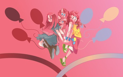 Pinkie Pie and her equestria girl wallpaper