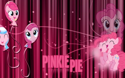 Pinkie Pie different poses - My Little Pony wallpaper