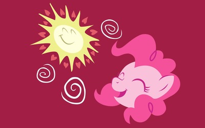 Pinkie Pie enjoying the sun - My Little Pony wallpaper