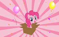 Pinkie Pie in a gift box - My Little Pony wallpaper 1920x1200 jpg