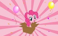 Pinkie Pie in a gift box - My Little Pony wallpaper 1920x1200 jpg