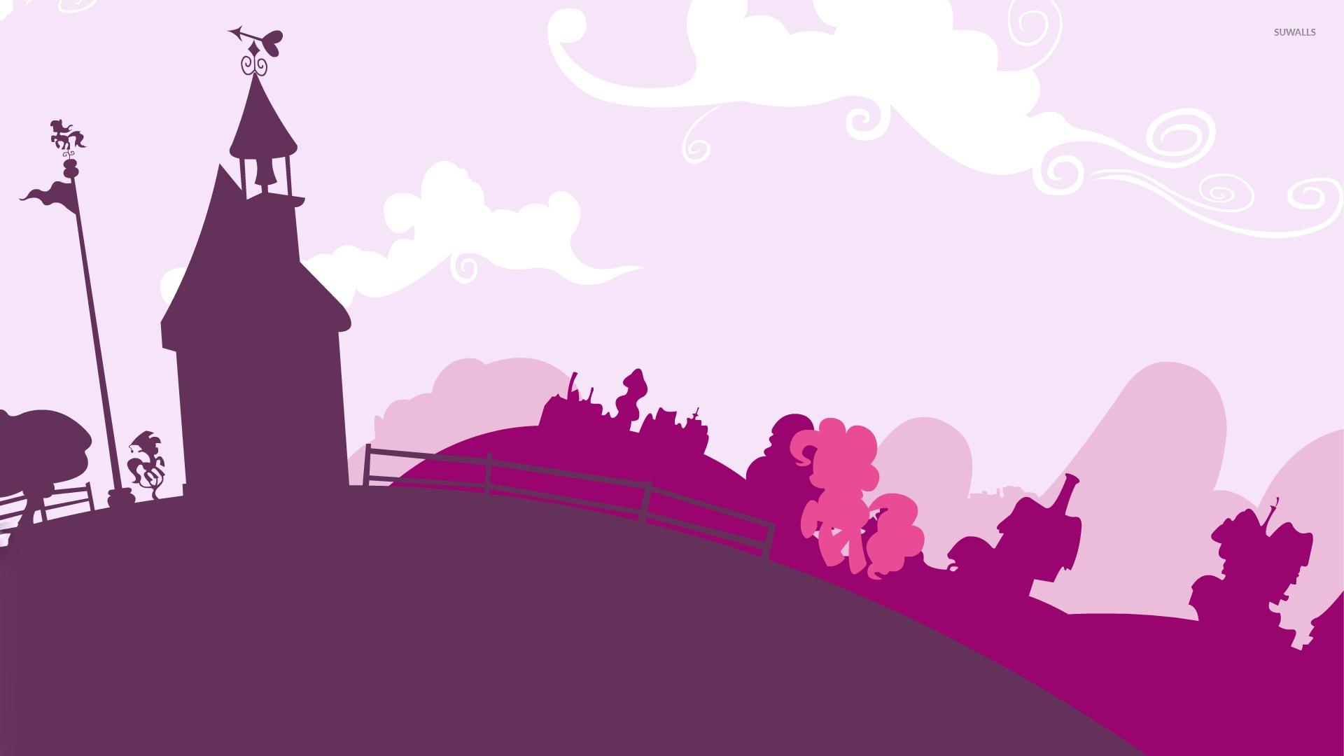 Pinkie Pie In A Pink Town My Little Pony Wallpaper Cartoon