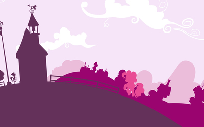 Pinkie Pie in a pink town - My Little Pony wallpaper