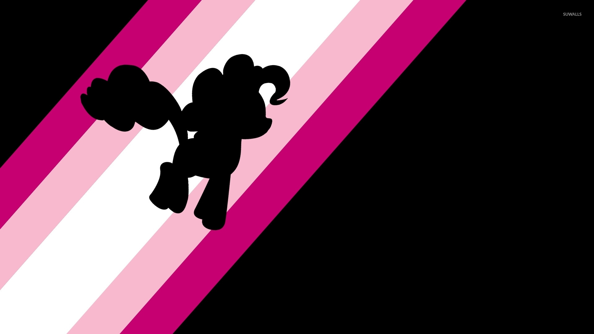 Pinkie Pie On Pink Rainbow My Little Pony Wallpaper Cartoon