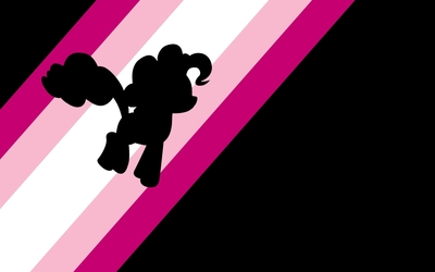 Pinkie Pie on pink rainbow - My Little Pony wallpaper
