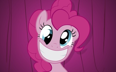 Pinkie Pie smiling close-up - My Little Pony wallpaper
