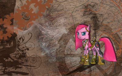 Pinkie Pie with golden armor - My Little Pony wallpaper