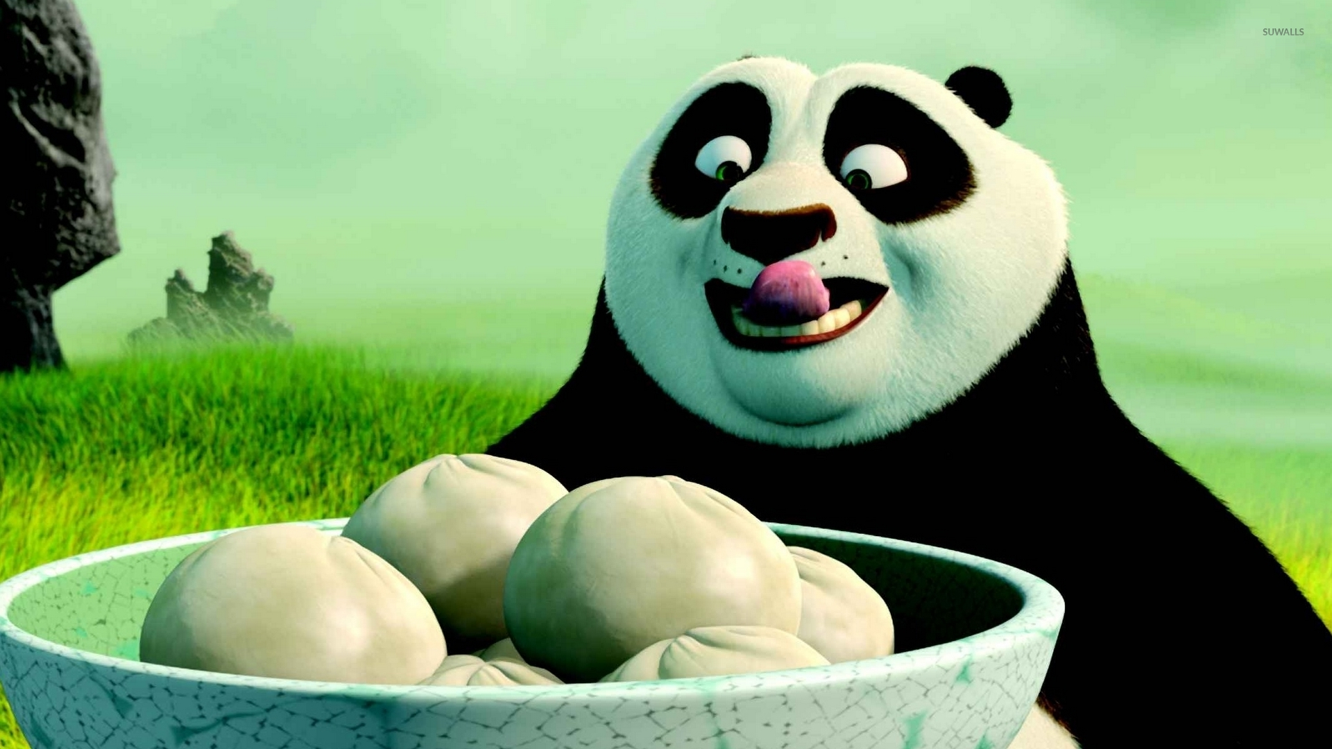 po having dumplings - kung fu panda wallpaper - cartoon wallpapers