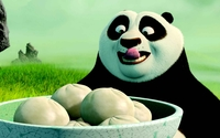 Po having dumplings - Kung Fu Panda wallpaper 1920x1080 jpg