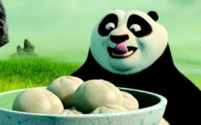 Po having dumplings - Kung Fu Panda wallpaper