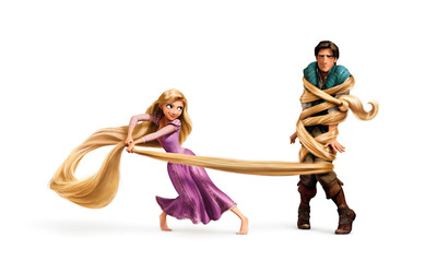 Rapunzel and Flynn Rider - Tangled wallpaper