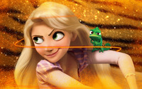 Rapunzel and Pascal - Tangled wallpaper 1920x1080 jpg