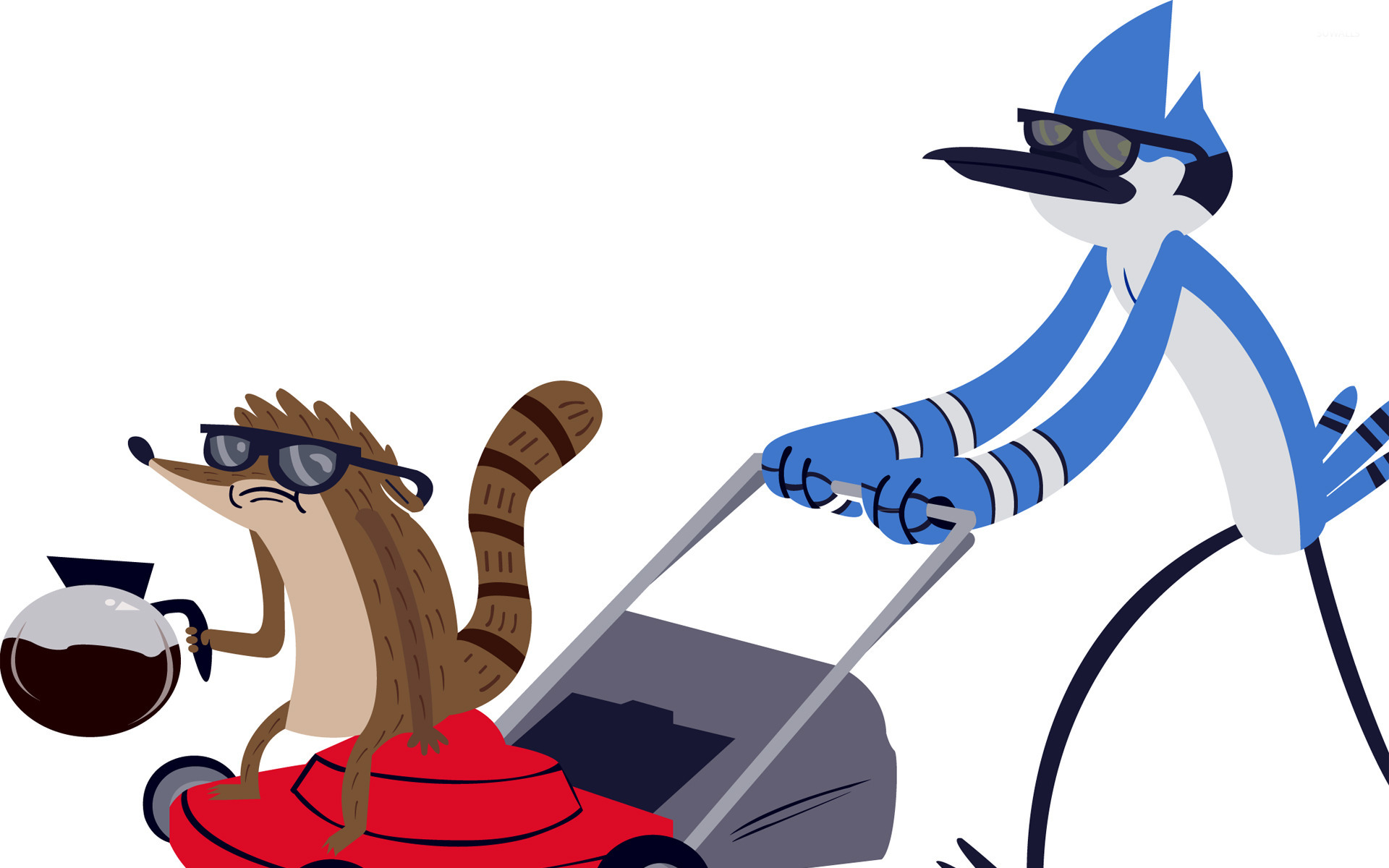 Rigby and Mordecai - Regular Show [3] wallpaper - Cartoon ...