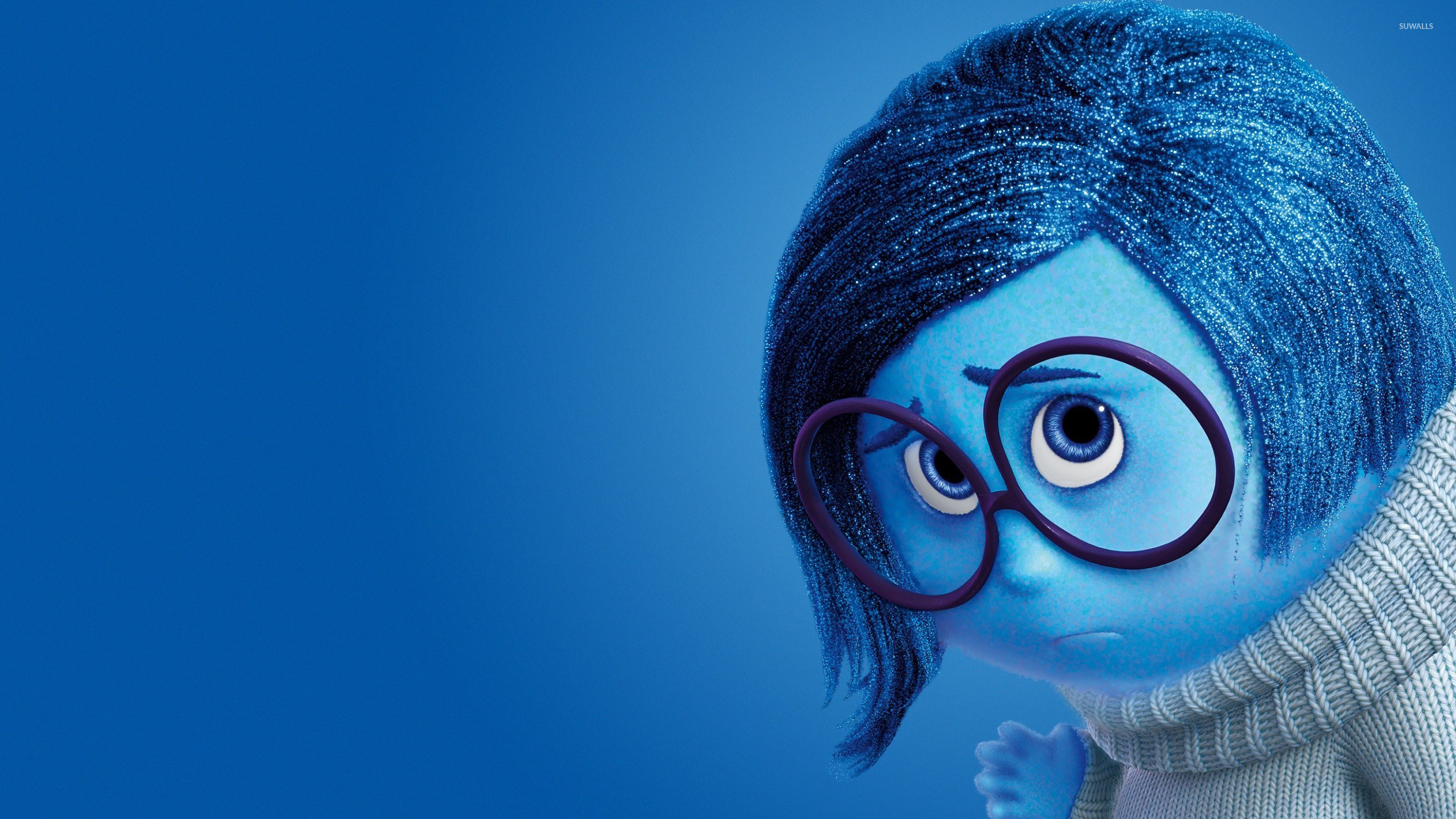 Sadness In Inside Out Wallpaper Cartoon Wallpapers 50969