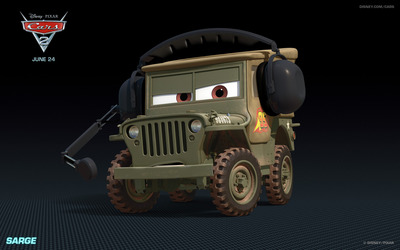 Sarge - Cars 2 wallpaper