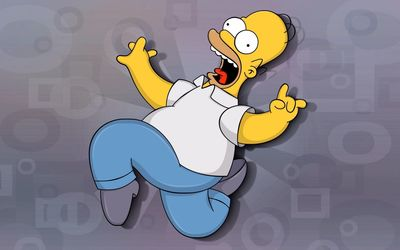 Scared Homer Simpson - The Simpsons wallpaper
