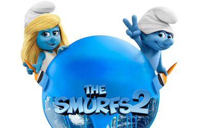 Smurfette and Clumsy - The Smurfs 2 wallpaper