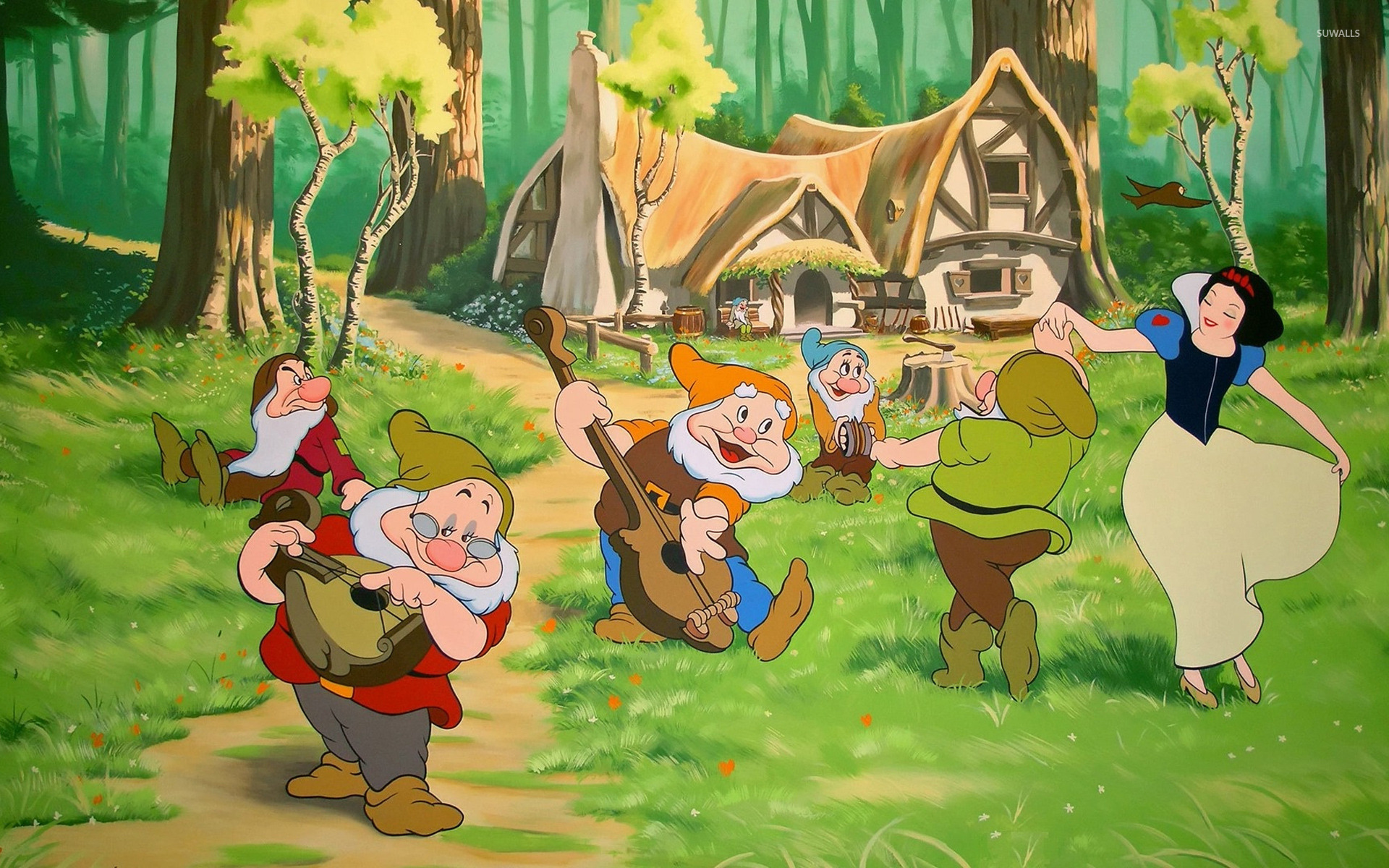 snow white and the seven dwarfs wallpaper - cartoon wallpapers - #12155