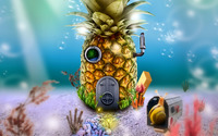SpongeBob's house wallpaper 2880x1800 jpg