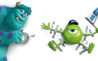 Sulley and Mike Wazowski - Monsters University wallpaper 2880x1800 jpg