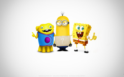 Oh, SpongeBob and Kevin wallpaper