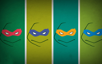 Teenage mutant ninja turtles masks wallpaper