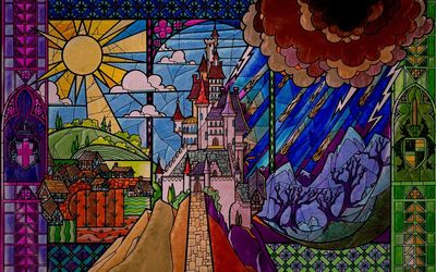 The castle of the Sleeping Beauty wallpaper