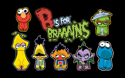 The Sesame Street Monsters wallpaper
