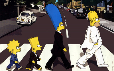 The Simpsons - Beatles wallpaper