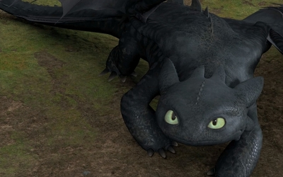Toothless in How to Train Your Dragon wallpaper