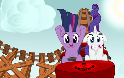 Twilight Sparkle and Rarity wallpaper