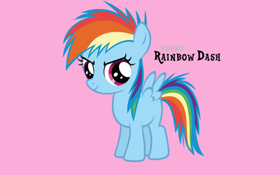 Young Rainbow Dash wallpaper